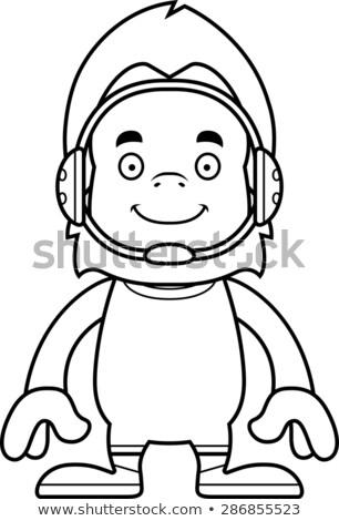 Cartoon glimlachend worstelaar dier grafische Stockfoto © cthoman