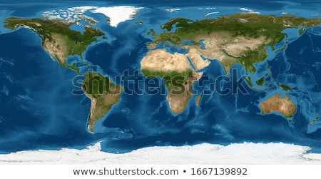 świat satelitarnej streszczenie przestrzeni niebieski nauki Zdjęcia stock © lemony