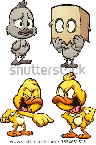 Cartoon Sad Duckling Stock photo © cthoman