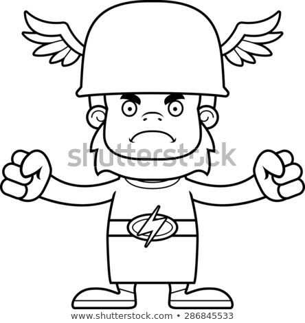 Cartoon Angry Hermes Sasquatch Stock photo © cthoman