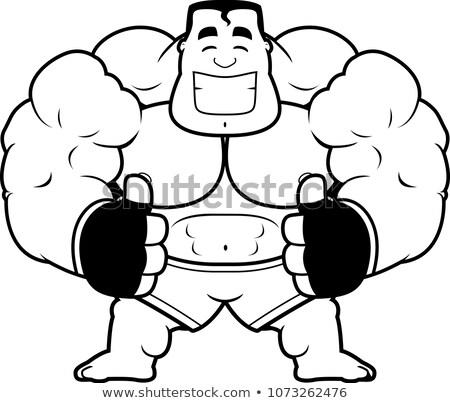 Cartoon MMA Fighter Thumbs Up Stock photo © cthoman