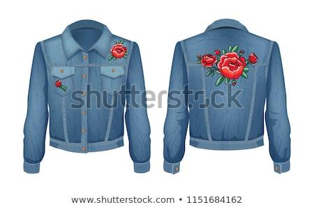 рок · куртка · джинсовой · ткань · одежды · череп - Сток-фото © robuart