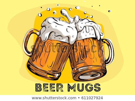 Mugs of beers Stock photo © colematt