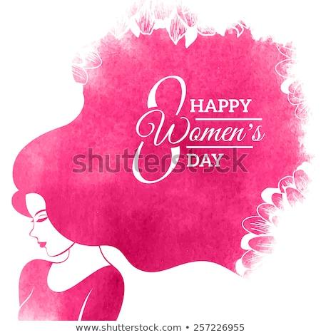Creativa diseno feliz día de la mujer celebración mujeres Foto stock © SArts