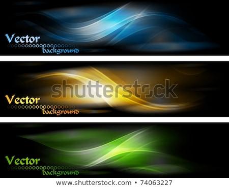 élégant bleu ondulés bannière design résumé Photo stock © SArts