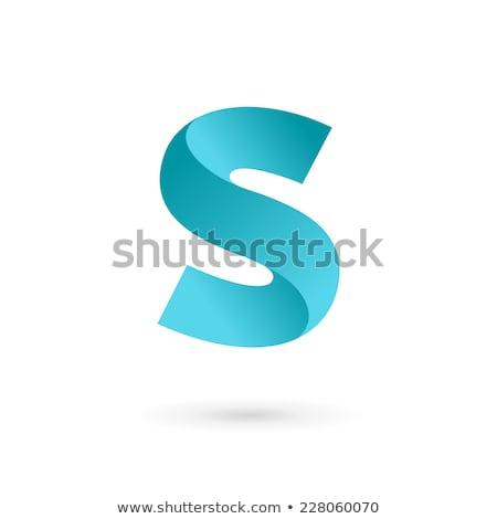 Logo ikon levél vektor logotípus terv Stock fotó © blaskorizov