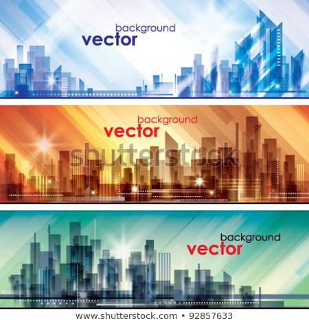 City life - modern line design style web banner Stock photo © Decorwithme