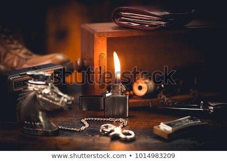 Metal encendedor gasolina eps 10 luz Foto stock © netkov1