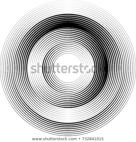 Abstract circular geometric swirl shape. Vector illustration isolated on white background. stock photo © kyryloff