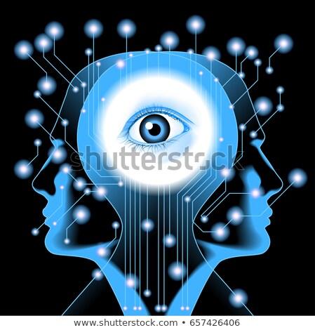 Elettriche madre circuito futuro tecnologia occhi Foto d'archivio © kyryloff