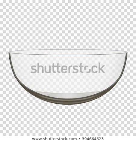 Lege Blauw glas kom een transparant Stockfoto © make