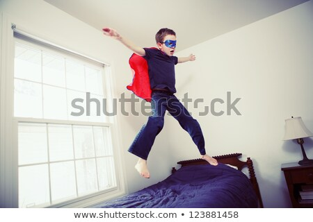 A Kid Playing Superhero Role Stock photo © colematt