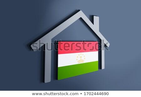 дома флаг Таджикистан белый домах Сток-фото © MikhailMishchenko