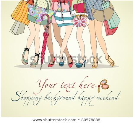 nina · ilustración · rosa · vestido · felizmente - foto stock © robuart