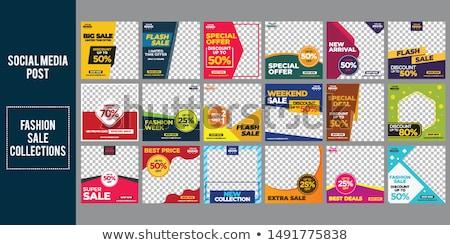 Vásár promóciós sablon stílus üzlet papír Stock fotó © SArts