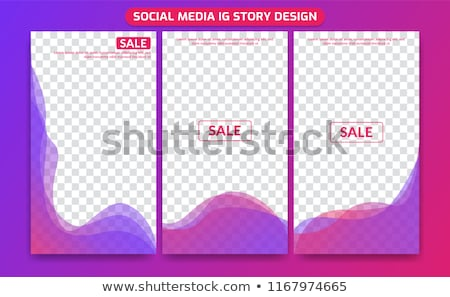 editable stories template transparent background stock photo © barbaliss