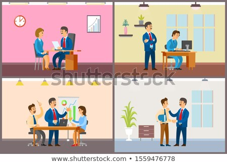 Boss Chief Executive Taking Interview of Woman Stock photo © robuart