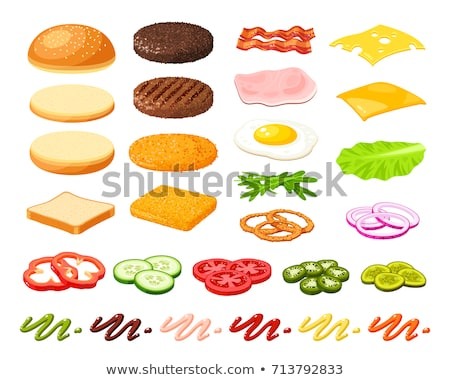 vector set of burger stock fotó © olllikeballoon
