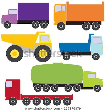 cinza · caminhão · rodovia · preto · tráfego · branco - foto stock © bluering