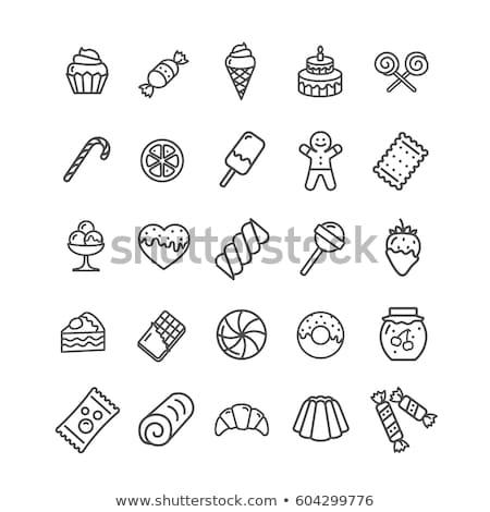 Confeitaria bolos bolo infográficos comida Foto stock © netkov1