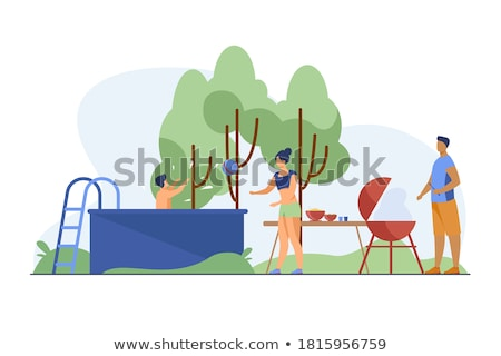 Cooking camp concept landing page. Stock photo © RAStudio