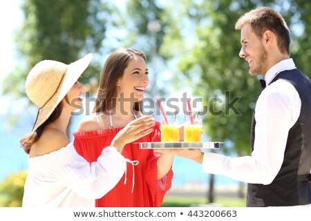 Teen Guy Waiter Order Stock photo © lenm