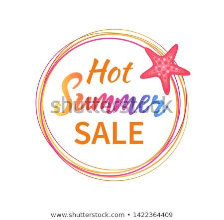 Forró nyár vásár szalag Vörös-tenger csillag Stock fotó © robuart