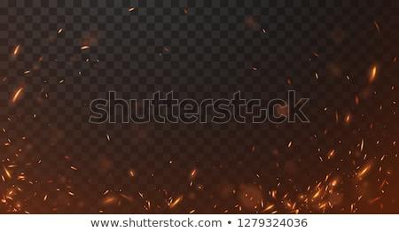 Chama faísca fogueira ardente madeira vetor Foto stock © robuart