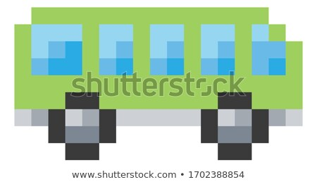 Bus Coach Pixel 8 Bit Video Game Art Icon Stock photo © Krisdog