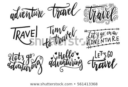 Czasu podróży plakat zestaw wektora bagażu Zdjęcia stock © robuart