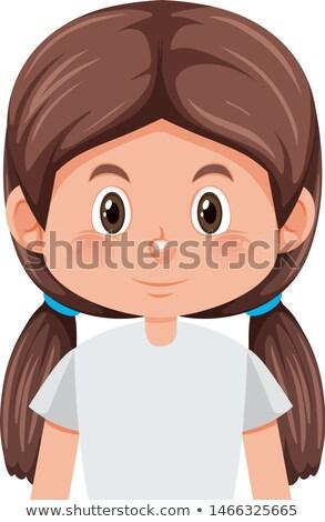 Lány üres tekintet illusztráció gyermek terv háttér Stock fotó © bluering