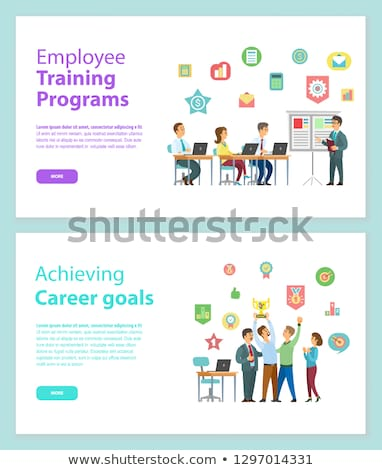 Empregado treinamento site vetor trabalhadores sessão Foto stock © robuart