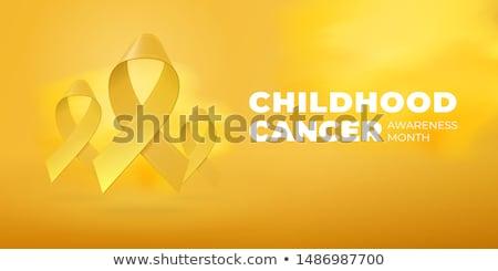 Childhood Cancer Awareness Month. Realistic Gold ribbon symbol. Medical Design. Vector illustration Stock photo © olehsvetiukha