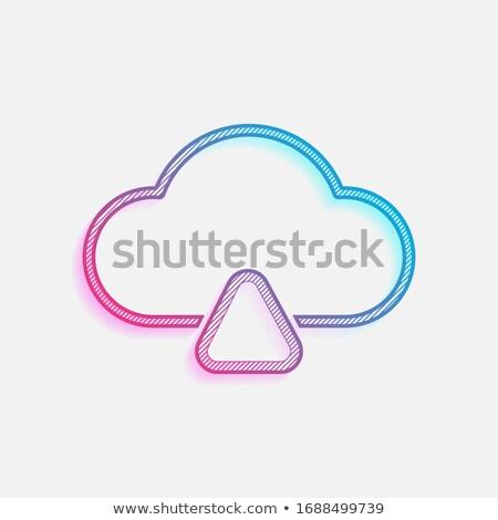 雲 アップロード ビジネス プロモーション 空 ストックフォト © Anna_leni