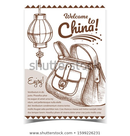 Fashion Stylish Hand Luggage Bag Monochrome Vector Stock photo © pikepicture