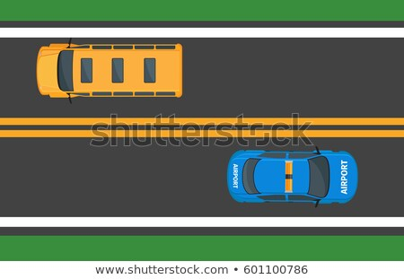 school bus and airport car moving on asphalt road stock photo © robuart