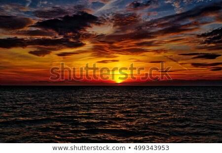 Sunset in adriatic sea Stock photo © Givaga