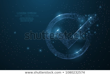 check mark sign icon in the dotted circle yes circle symbol confirm approved for your web site de stock photo © kyryloff