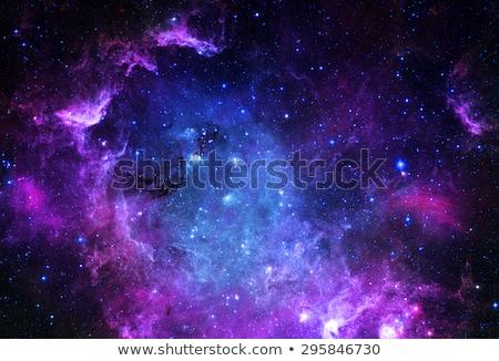 Gwiazdki przestrzeń kosmiczna niebieski mgławica chmury projektu Zdjęcia stock © clearviewstock