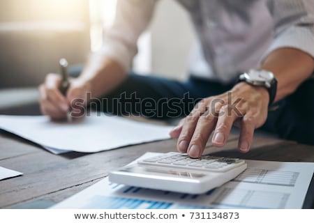 Negócio financiamento contabilidade bancário empresária trabalhando Foto stock © Freedomz