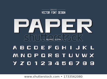 Foto stock: 3D · moderna · fuente · blanco · línea · alfabeto