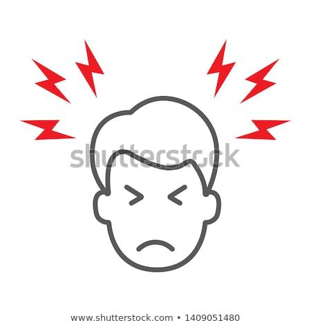 Headache Icon Vector Outline Illustration stock photo © pikepicture