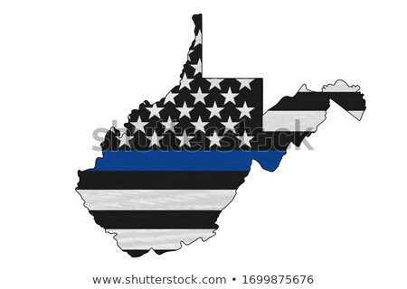 West Virginia politie ondersteuning vlag illustratie vorm Stockfoto © enterlinedesign