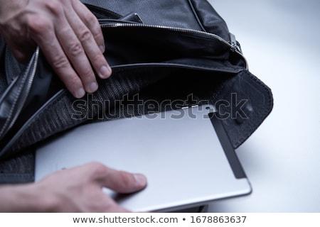 ноутбука портфель портативного компьютера белый интернет контроля Сток-фото © dogbone66