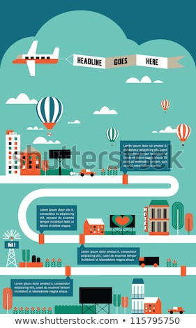 Air transport and cars banner templates set Stock photo © Decorwithme