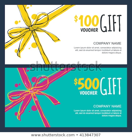 Shopping Offer, Gift Card and Holiday Voucher Stock photo © robuart