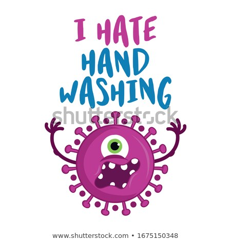 Ódio mão lavagem pare coronavírus Foto stock © Zsuskaa