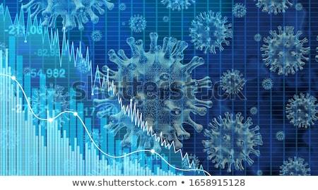 Zdrowia finansowych spadać wirusa opieki zdrowotnej publicznych Zdjęcia stock © Lightsource