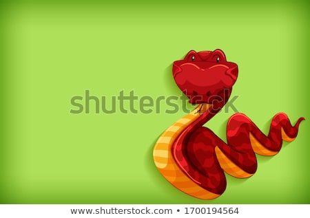 Background template design with plain color and red snake Stock photo © bluering
