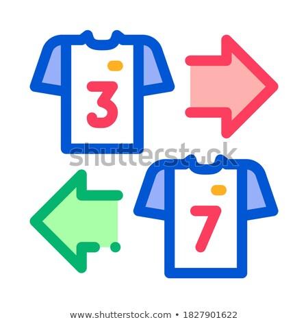 Csapatok póló csere ikon skicc illusztráció Stock fotó © pikepicture